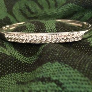 Swarovski Double Row Hinged Bangle